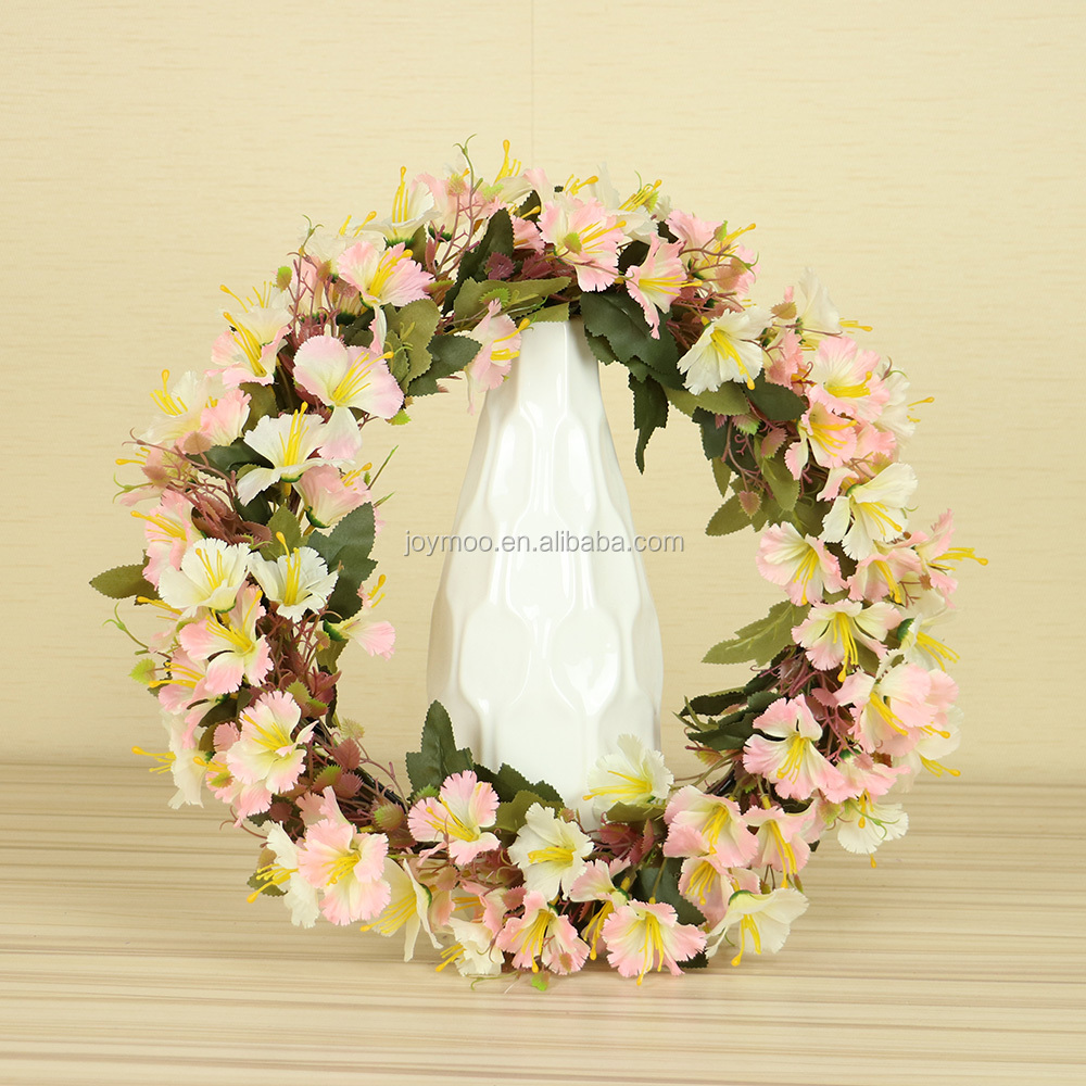 Factory Wholesale Pink 40cm Silk Decorative Flower Wreaths Buy