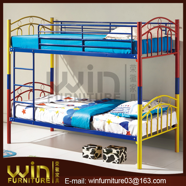 colorful bunk bed for kids smart children bunk bed furniture double deckers metal bunk bed