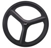 2018 New Design 700C Carbon Clincher 3 Spoke Bike Wheels For Track/Road/Time Trial