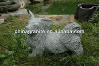 garden decoration stone dog carving