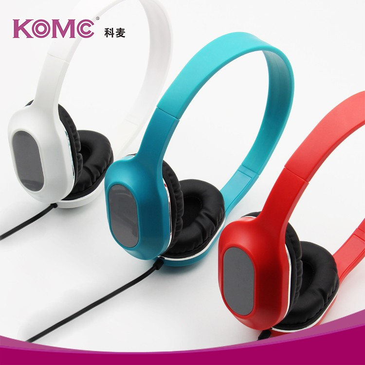 Stereo Lightweight Foldable Headphones Adjustable Headband Headsets with Microphone and volume control 3.5mm for Cellphones