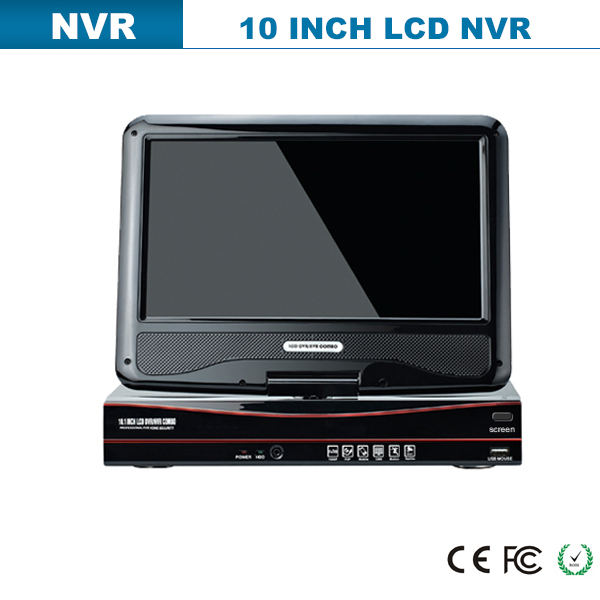 2015 best selling LCD SCREEN onvif NVR, with POE SWITCH 4CH P2P NVR