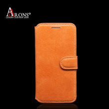 New premium book opening mobile phone leather caes for iphoen6 leather case