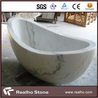 Solid Natural White Marble Stone Bathtub For Sale