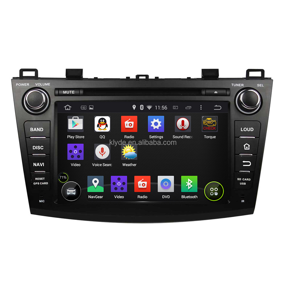 "8"" touch screen Android 5.1.1 Quad Core Car DVD player for Mazda3 2009-2012"