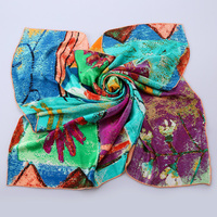 JANUARY KOMA custom ladies scarf knitted shawl art silk scarf
