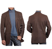 CLASSIC MENS LEATHER BLAZER