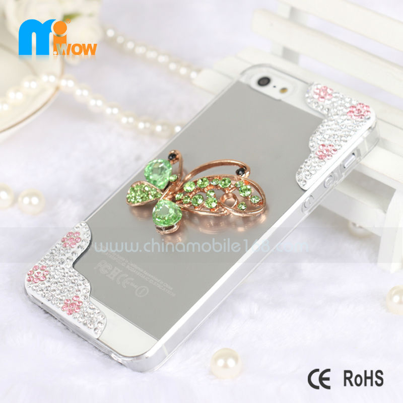 Luxury flash diamond pattern bling cell phone case protective cover for the iPhone5