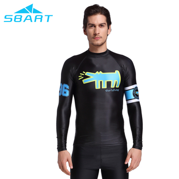 sbart factory supplier high quality lycra rashguard shirt long sleeve anti-jellyfish diving wetsuit tops quick dry swim vest