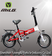 Hot selling LED light mini folding electric bike/ 16 inch cheap electric bicycle/ e bike frame
