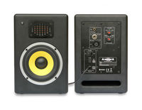 Professional audio speaker 8-Inch Carbon Fiber Woofer and Silk Dome Ribbon twweter 2-way Stage Monitor Powered Speaker