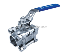 3-PC BALL VALVE, FULL BORE, SOCKET WELD, 1000 WOG
