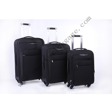 20''24''28'' high quality black trolley travel luggage case
