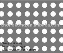 2mm hole aluminium perforated sheet