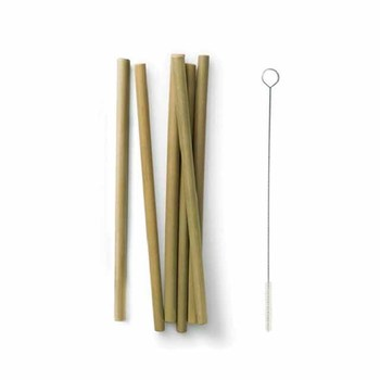 Multipurpose high quality eco friendly bachelorette party bamboo smoothie straws made reusable