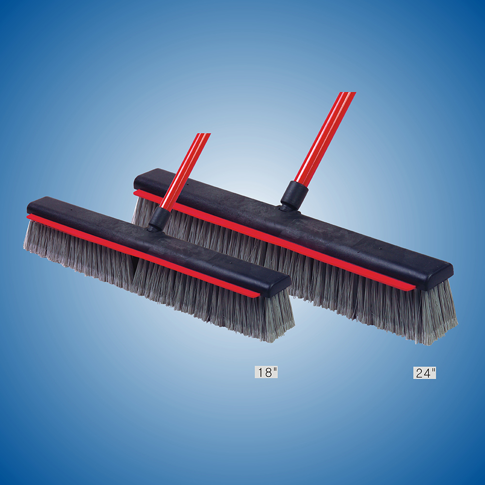 "18"" Floor Brush with Rubber scrapper"