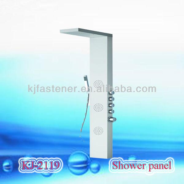 en acier inoxydable panneau de douche acrylique panneaux muraux de douche robinet bain douche. Black Bedroom Furniture Sets. Home Design Ideas