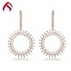 Morden 925 silver white cz hook earring with english lock