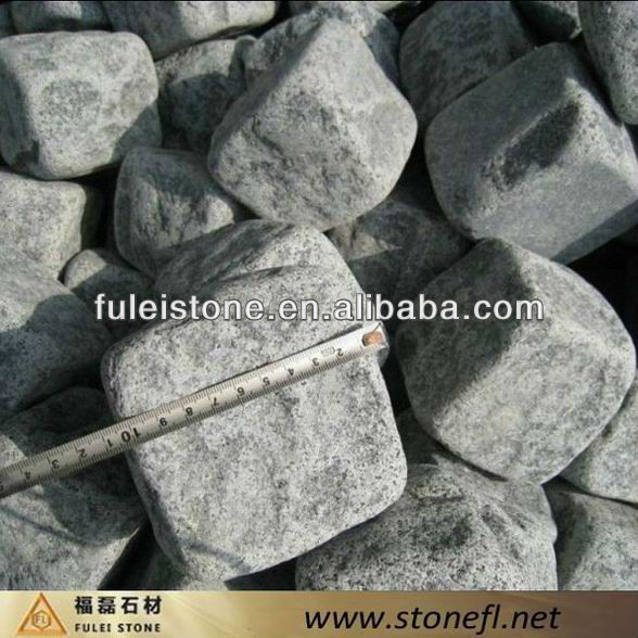Grey Granite Cobblestone Paving
