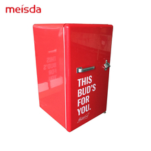 Under Counter 80L Commercial Red Color Beer Beverage Mini Bar Fridge With ETL