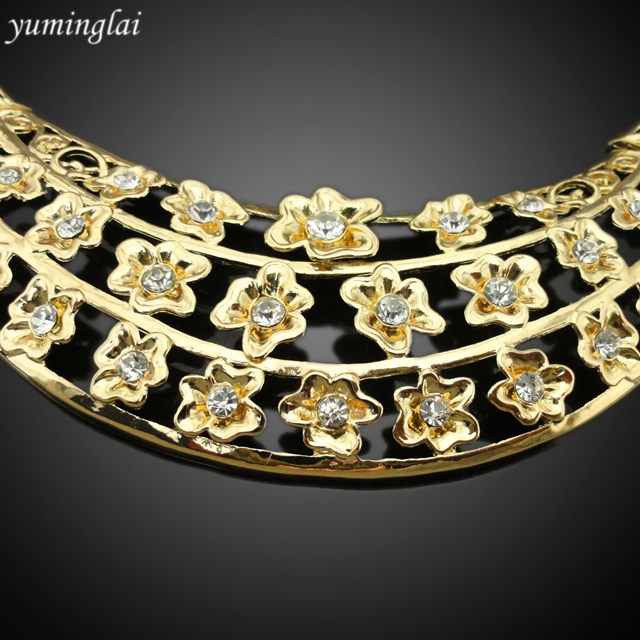 2017 Wholesale african jewellery 18k gold plated jewelry set imitation jewellery