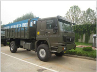 Famous Brand SINOTRUK OFF ROAD Howo 4x4 military truck for sale