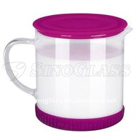 SINOGLASS 1 PC Glass Liquid Warmer With Silicon Base S Size