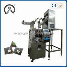 SG5029 stainless green tea drink plastic preformed bag filling sealing packing machine in china