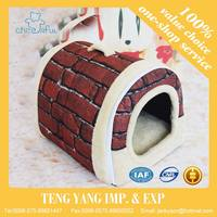 Fashion customize Lovely with different sizes waterproof cushion wooden dog bed