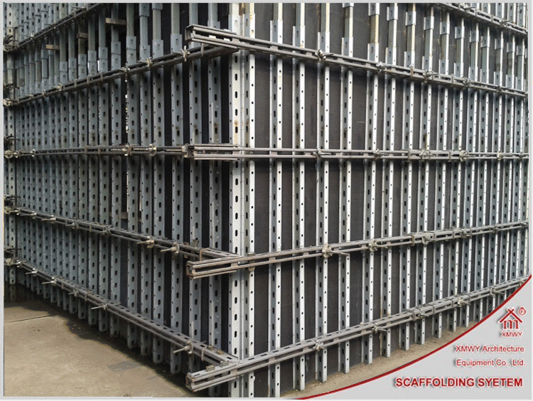 New Developed Reusable Concrete Wall Formwork System