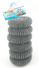 China set of 4 pc 35g galvanized mesh ball stainless steel scourers