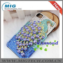 New Product Plastic Peacock Crystal bling diamonds case for apple iphone 4 4S 5 5S, for Apple iphone 5 9 Colors China supplier