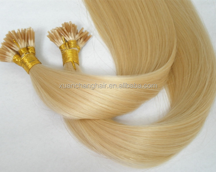 "20"" I tip Human Hair Extension, Indian Remy Stick Hair Extension, Brazilian Virgin Pre Bonded Keratin Hair Extension"