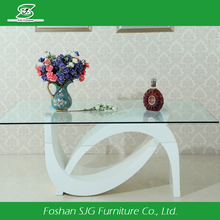 Home Furniture Modern Tempered Glass Dining Table