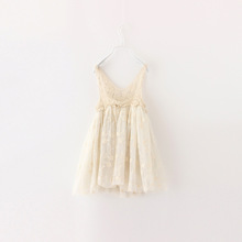 Top Girls Dress Gold and Pink Toddler Girl Flower Wedding Tutu Hollow Lace Dress