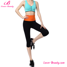 Wholesale high waist black capri workout womens gym leggings