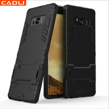Shockproof Hybrid Heavy Duty Armor Kickstand Tpu Pc Phone Case For Samsung Galaxy S8 Note 8