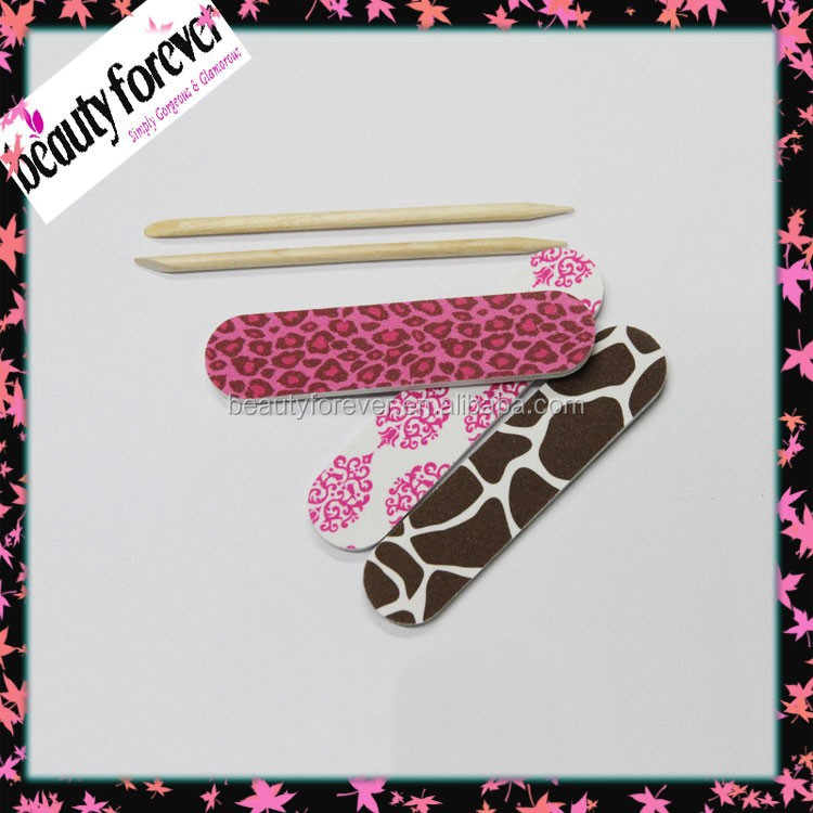 Mini manicure kit nail file with polishing nail stick