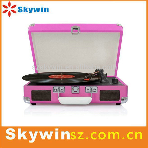 New Arrival suitcase turntable player Vinyl records, gramophone, phonograph, antique turntable
