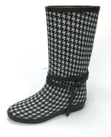 casual shoes fabric upper rubber lining china wholesale rubber Rain Boot
