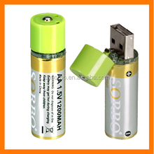 SORBO 2016 Advanced Lithium Micro-USB Rechargeable AA Battery