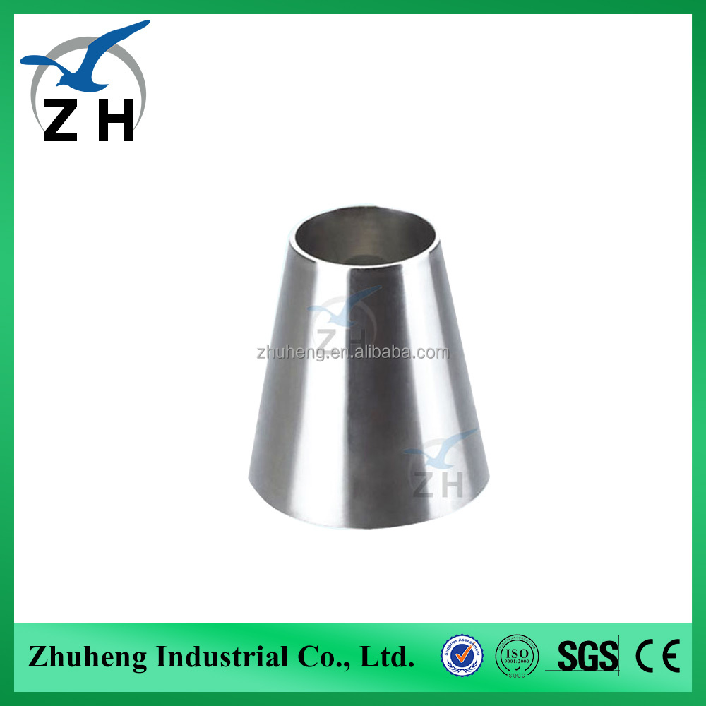 high quality sanitary ZH stainless steel pipe reducer