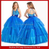 FG-032 Fancy layered tulle skirt ball gown designs for kids evening gowns 2015 kids-evening-gowns