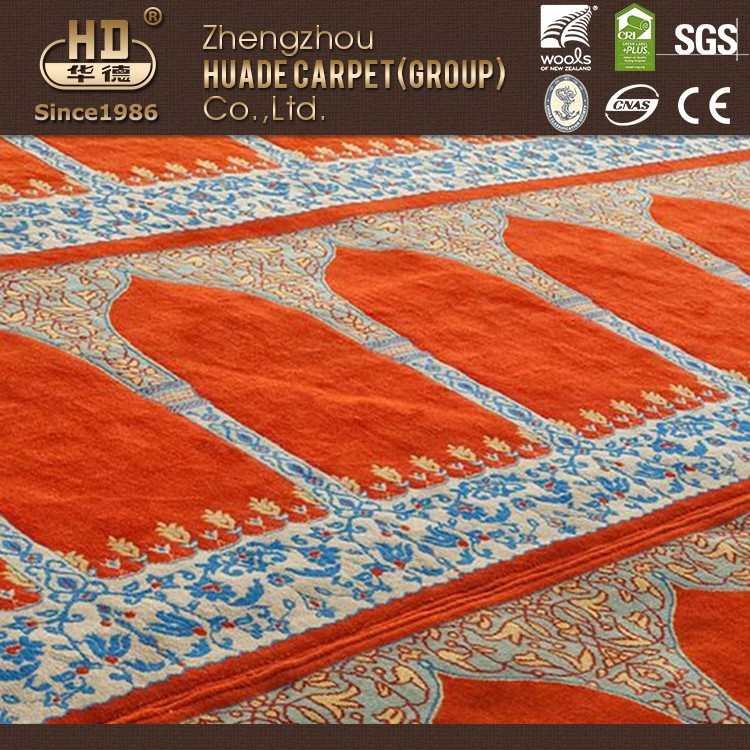 Special design widely used hotel mosque red carpet