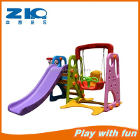 Latest Children Indoor Plastic Slide with Basketball Stand