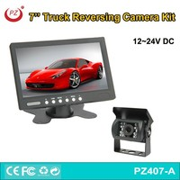 rearview mirror car monitor with 7 tft lcd, truck rear view camera with 7'' lcd monitor