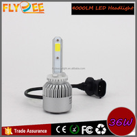 S2 cob high quality chip 36w 4000lm 12v 24v h1 h3 h4 h7 h8/9 h11 h4 h13 9004 9005 9006 9007 high low beam car led headlight