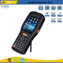 3.5inch touch screen PDA mobile phone with rs232 port,barcode scanner,built-in printer