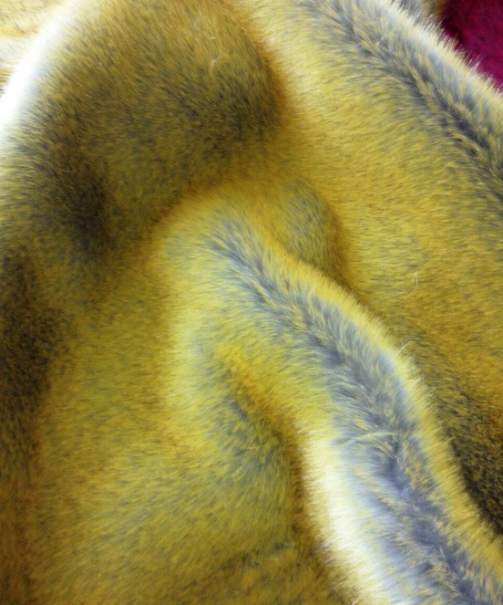Polyester Faux/ Artificial Fur dress fabric, Fake Rabbit/ Fox Fur for garment