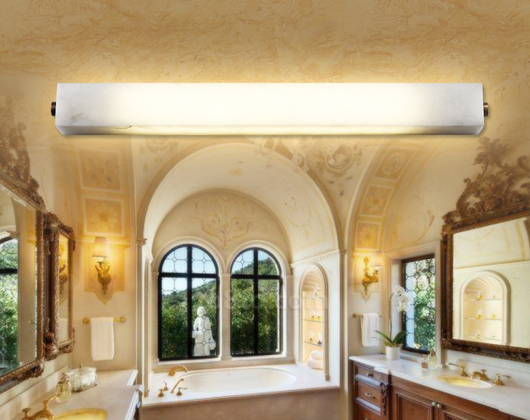 8-15 sqm LED tube modern vanity mirror lighting with marble